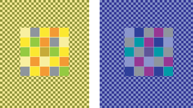 Double opponent cells color constancy and the dress